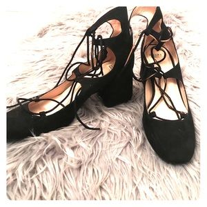 Zara Trafuluc lace up heels